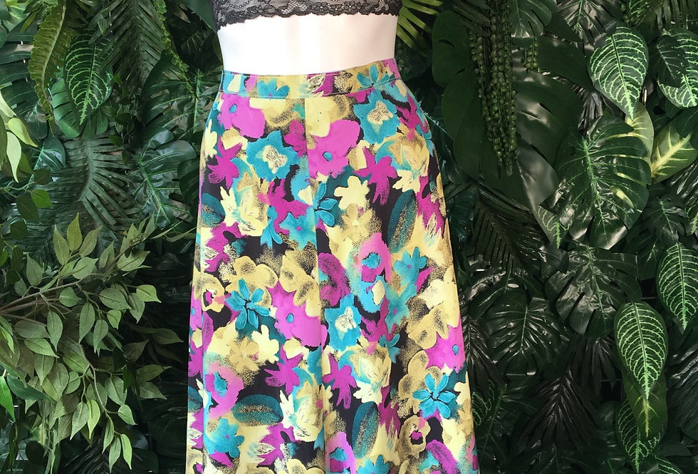 90s floral skirt (size 12-14)