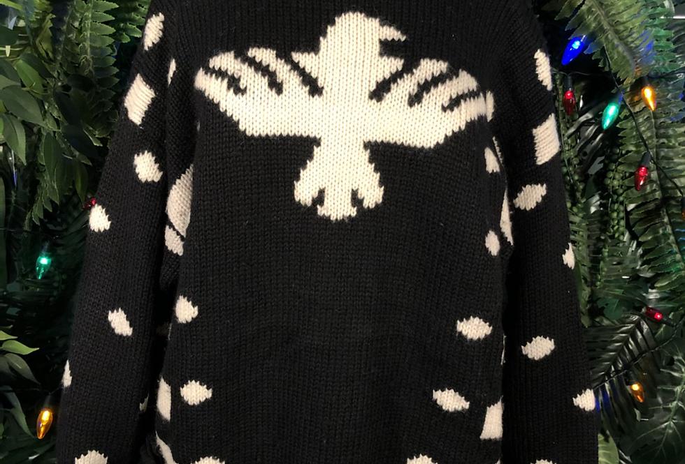 L.B.SPORT tassel & eagle knit