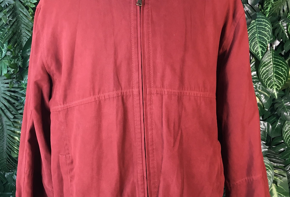 Cento Mila red suede bomber (size 52)