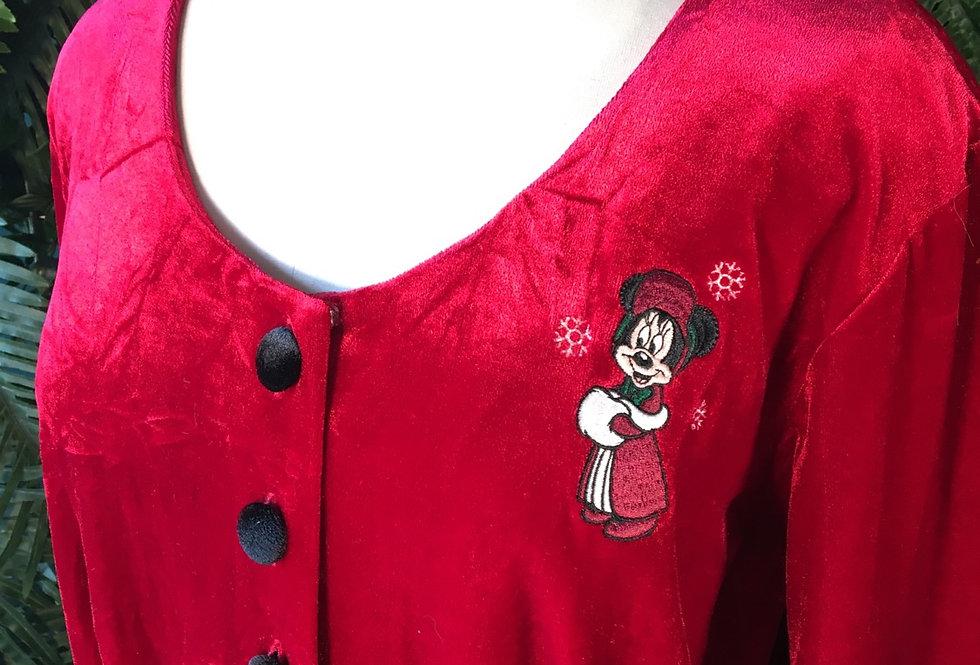 Original Disney World Velvet Christmas Dress (L)