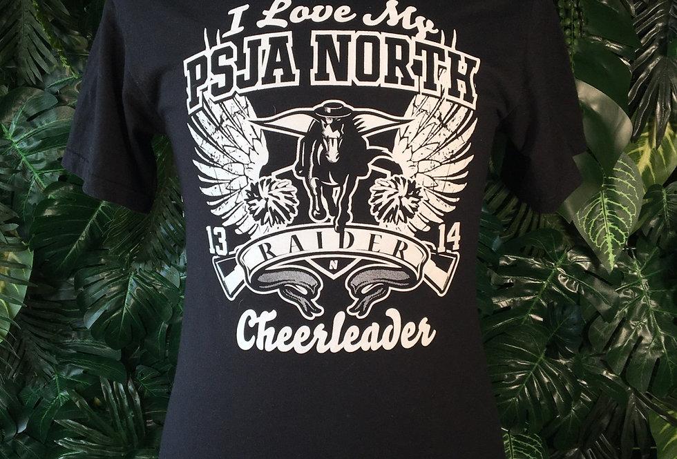 PSJA cheerleading tee