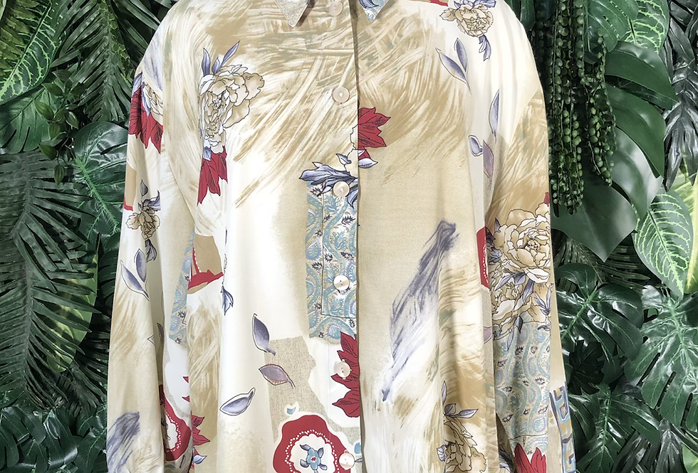 90s floral blouse