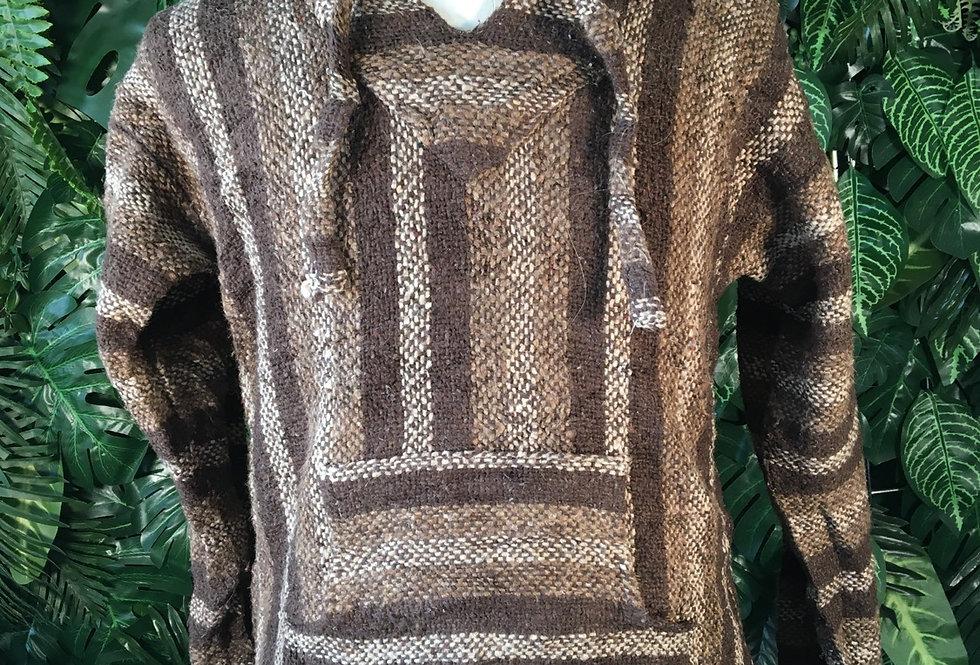 Brown baja hoody (S)