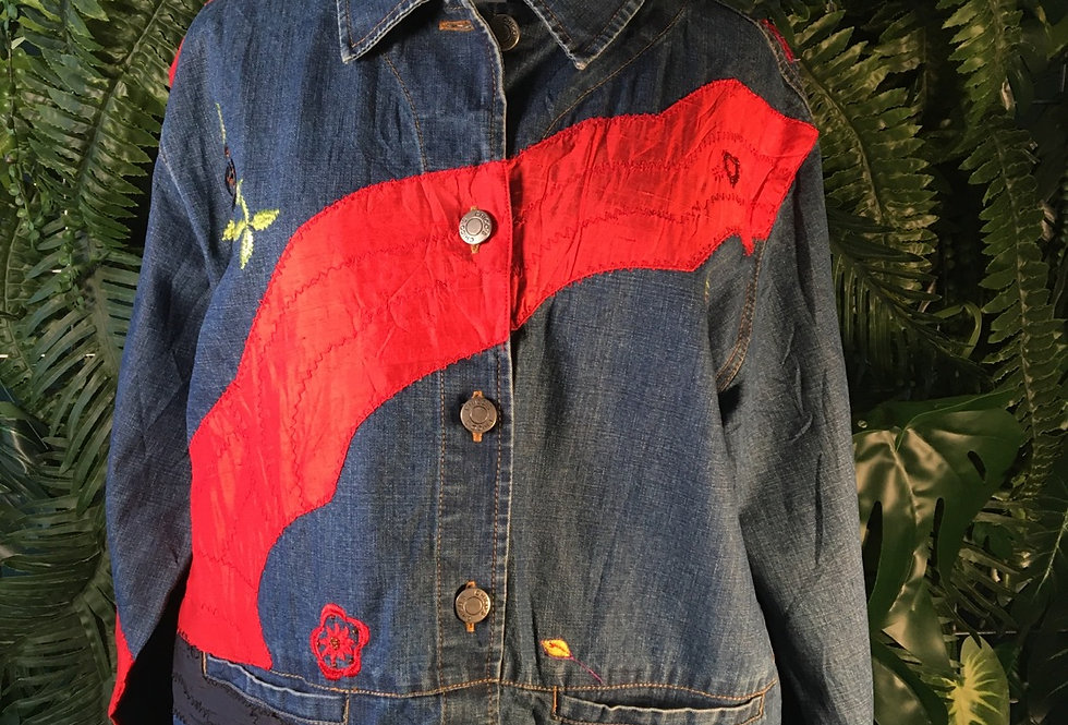Chico's Embroidered Jacket (M/L)