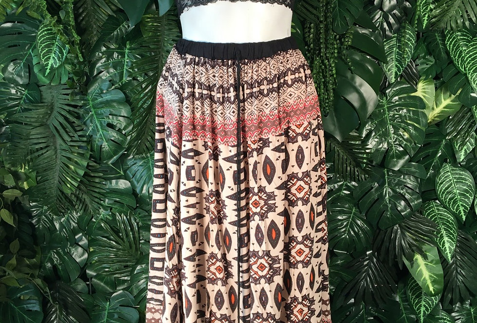 Graphic hippy skirt (S)