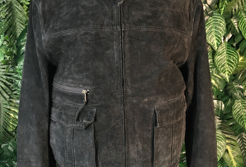 Zarro suede varsity jacket (size 52)