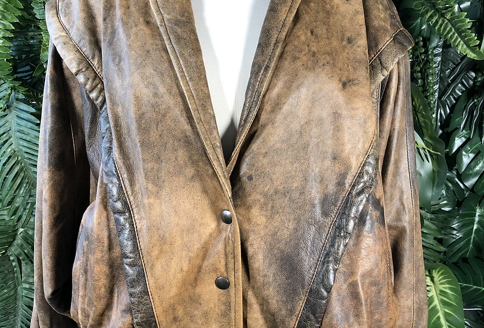 Tan 80s biker jacket