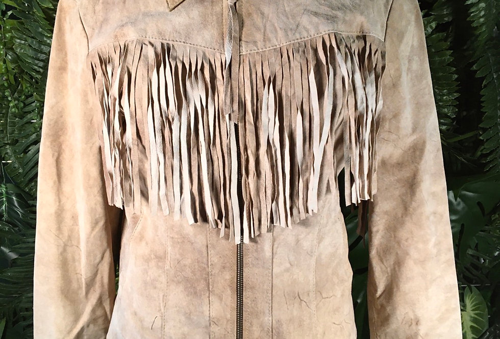 XOXO Fringed Suede Jacket (M)