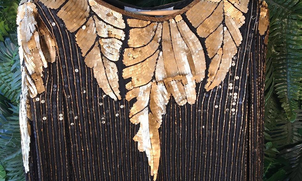 Feather Motif Sequin Blouse (10/12)