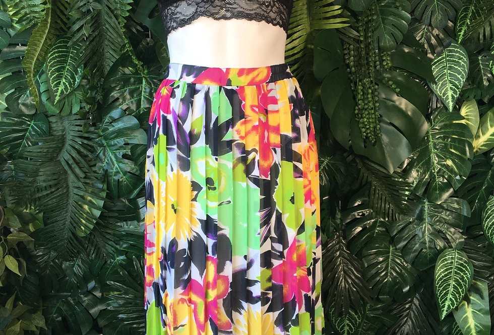 Pleated floral skirt (size 42)