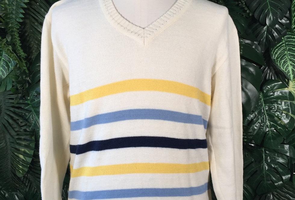 Y2K striped sweater (L)