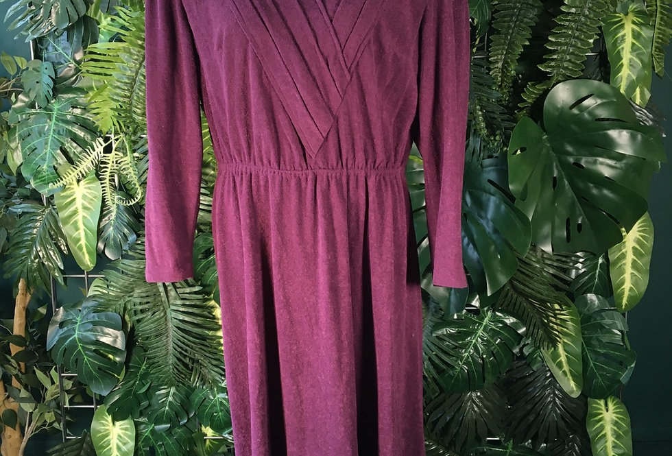 70s Plum towling dress