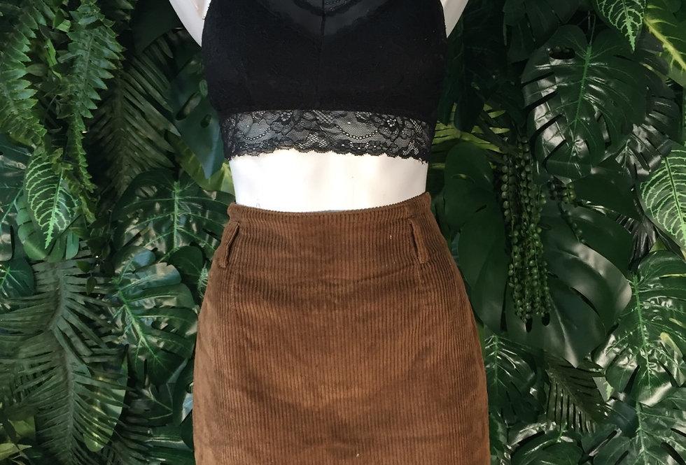Brown corduroy mini skirt (size 42)
