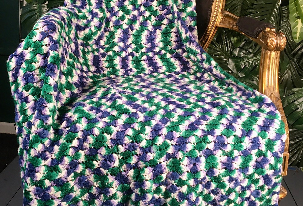Hand Crocheted Speckle Blanket