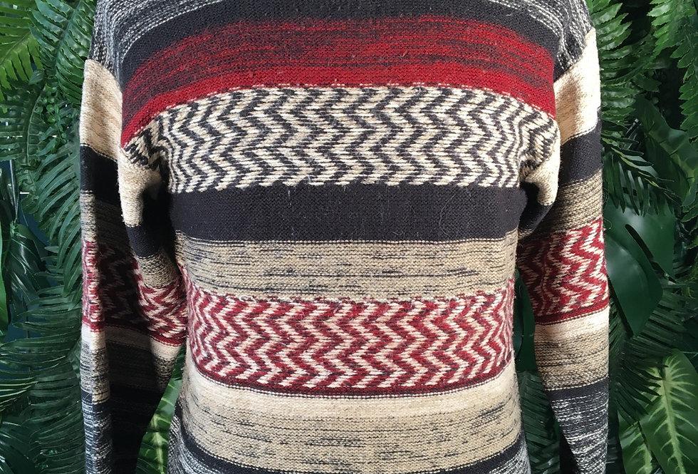 Zig Zag Knit Sweater (M)
