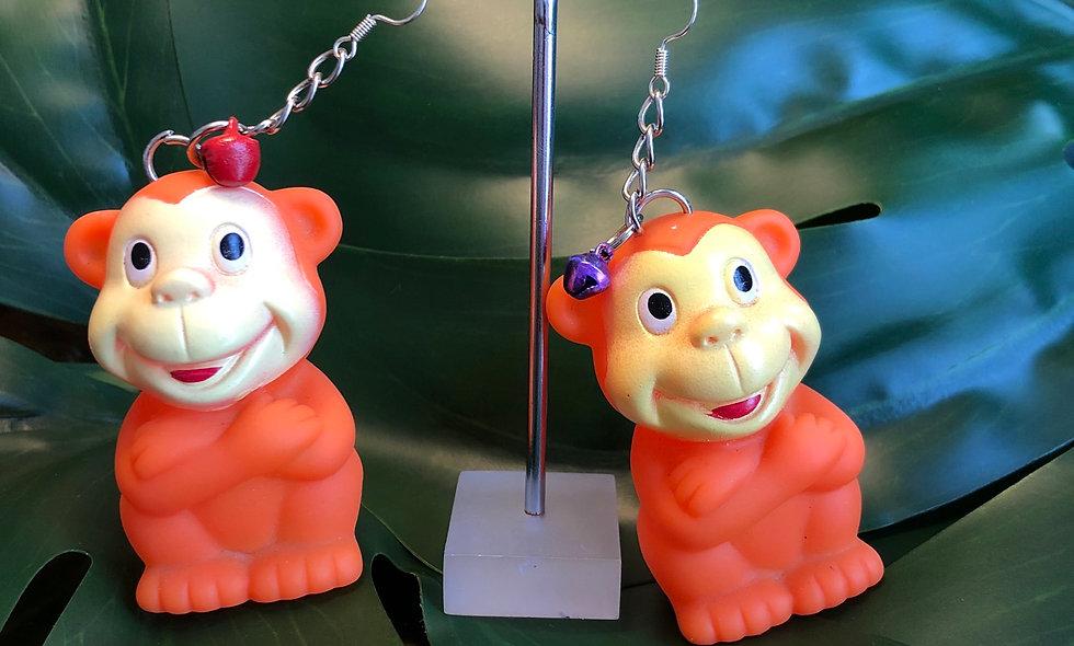 Funky monkey earrings