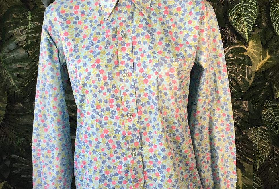 Cute floral print shirt (size 14)
