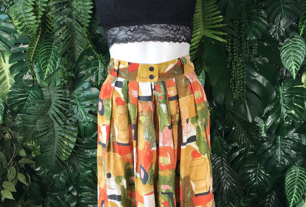 Abstract print culottes (size 40)