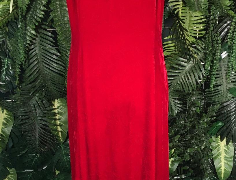 Sigrid Olsen Red Velvet Dress (10)