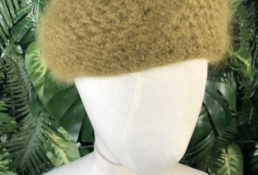 Moss green wool hat