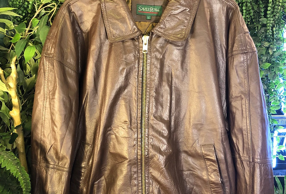 Saville row leather bomber
