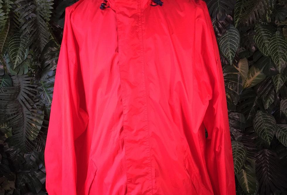 Jeantex rain jacket with foldaway hood (XL)