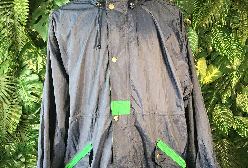 Jeantex rain jacket with zip away hood (M)