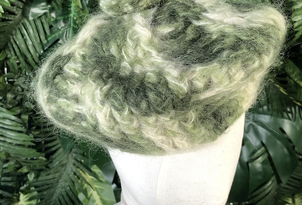 Green Pom Pom hat