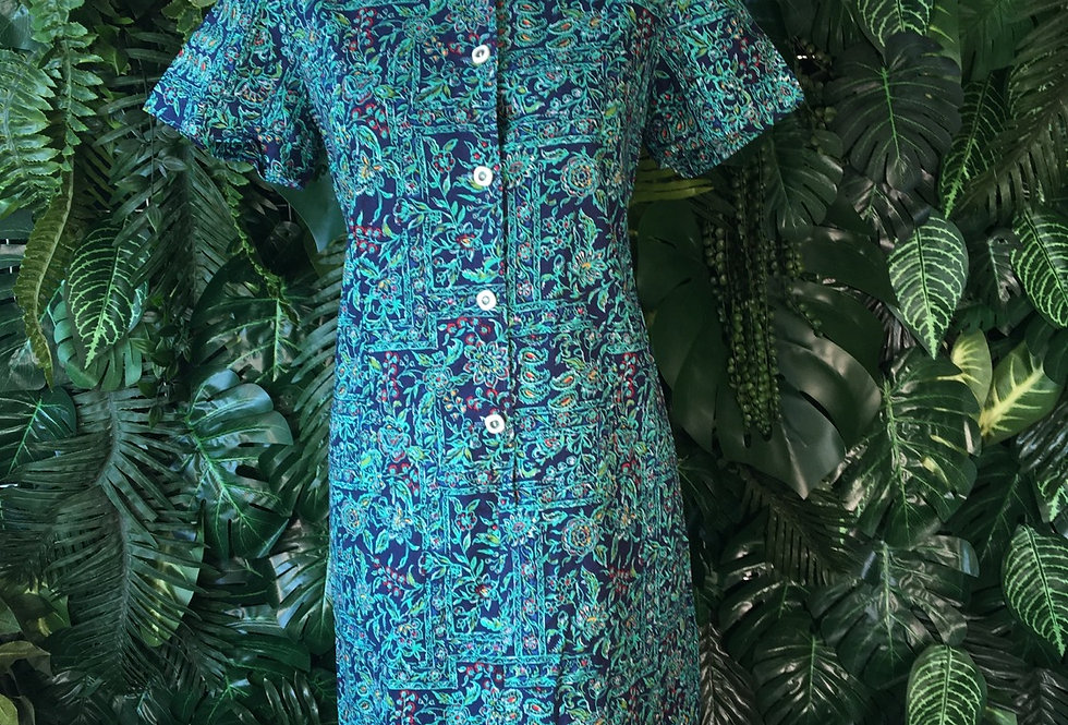 Floral shirt dress (size 14)