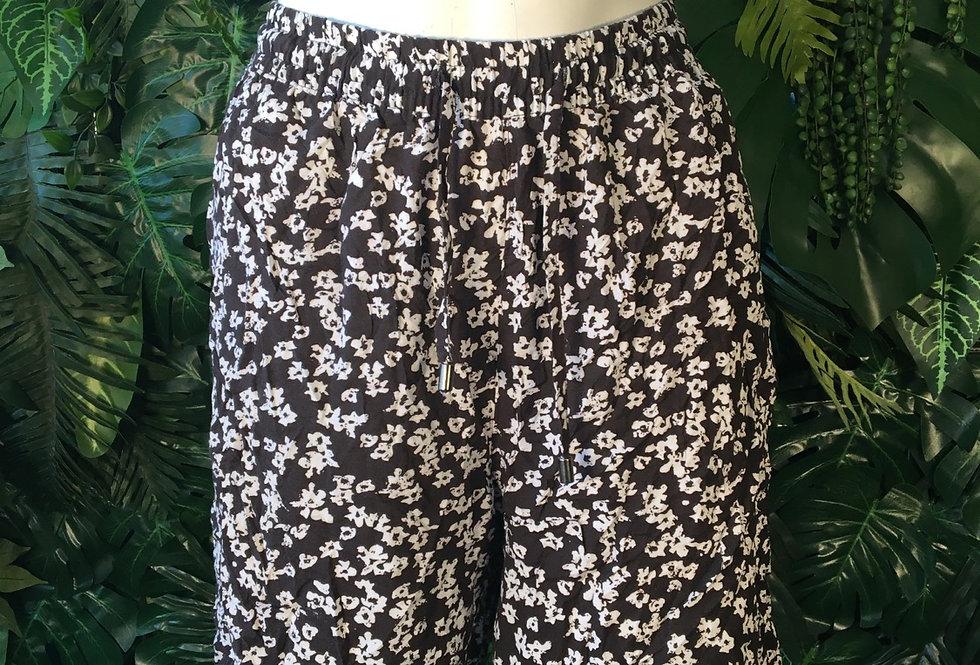 Monochrome floral shorts (size 12-14)