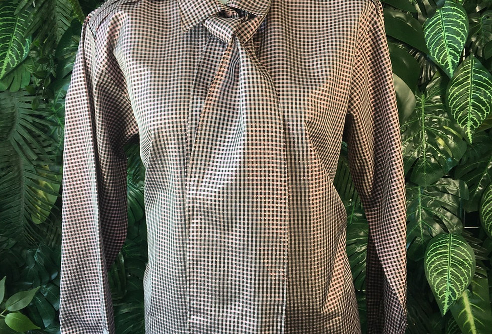 Peiser shimmer blouse with bow (size 40)