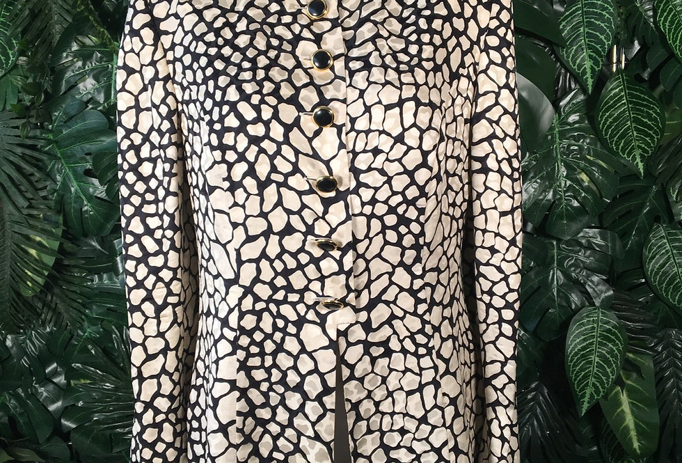 Fink bleck & gold blouse (size 14)