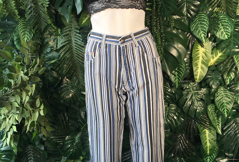 Walter Jeans striped 90s jeans (size 6-8)
