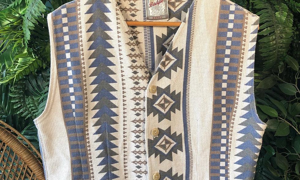 Aztec print waistcoat