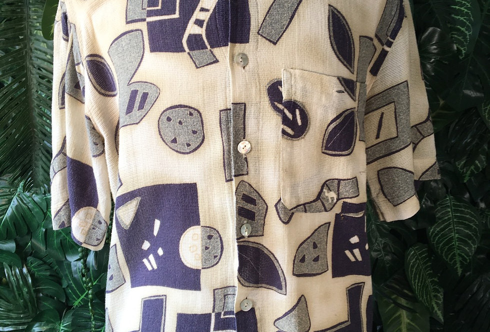 Authentic Camel abstract 90s shirt