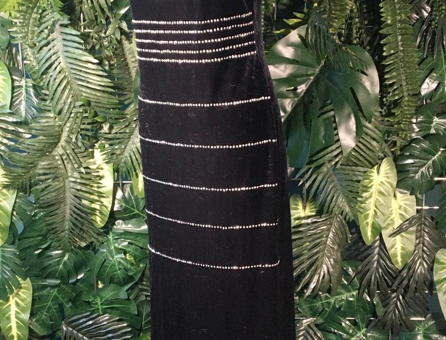 Jaslene Velvet Evening Dress