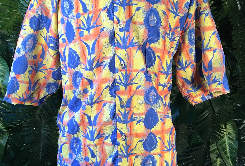 Checker Printed 90s Shirt (L)