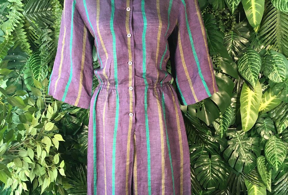 Vega striped shirt dress (size 10-12)