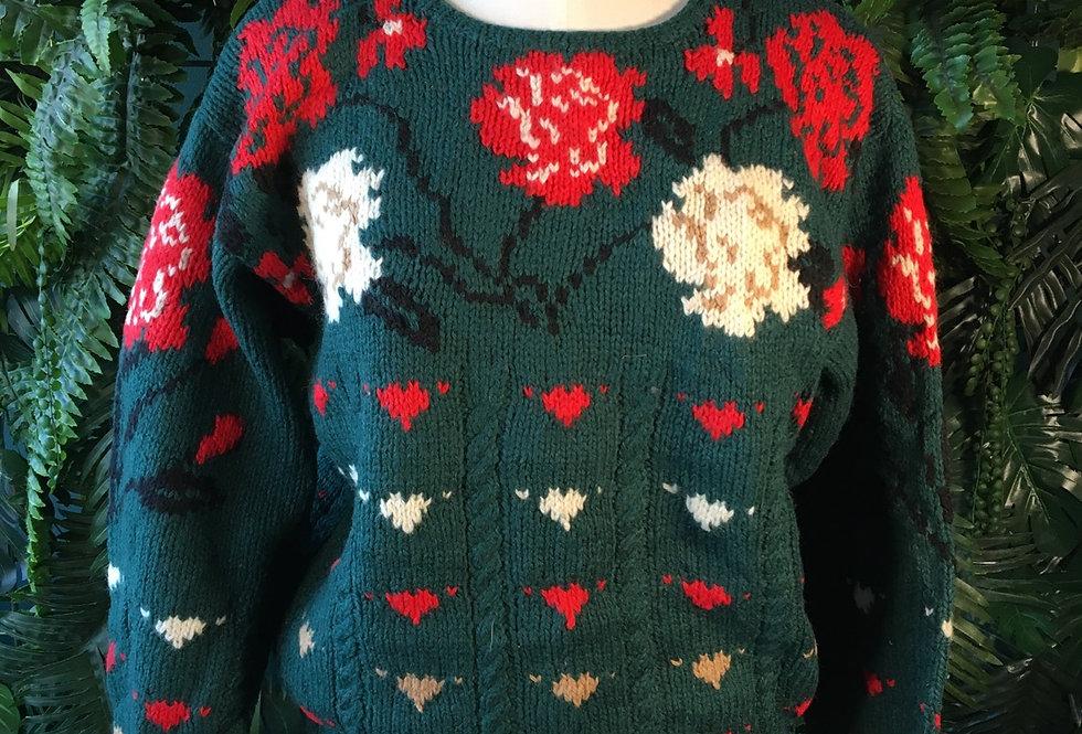 80s Shetland Wool Knit (S)