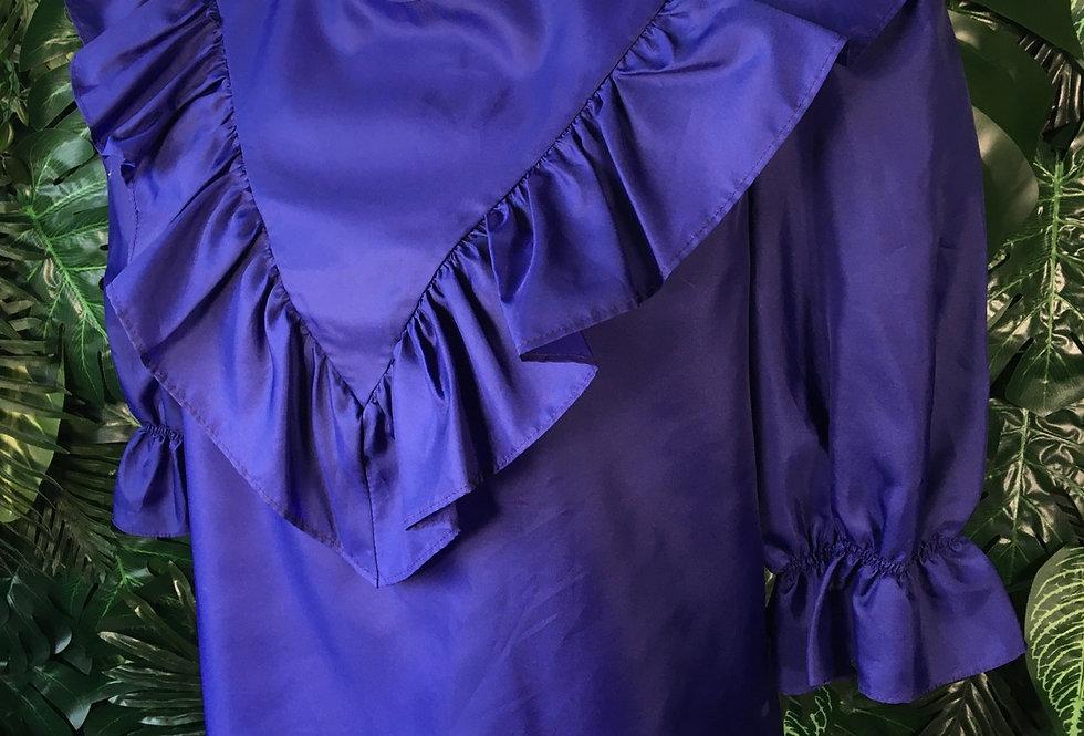 Purple v-collar blouse (size 16)