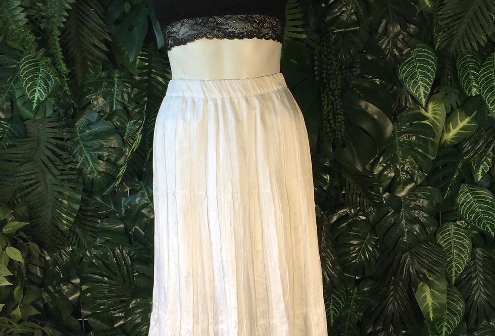 Crushed satin skirt (size 16)