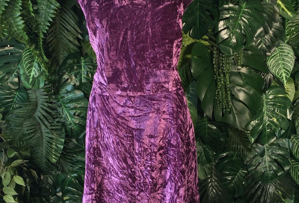 Isaac Mizrahi purple velvet cap sleeve dress (Size 16)