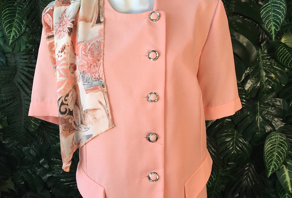 Carlo peach blazer style blouse (size 52)