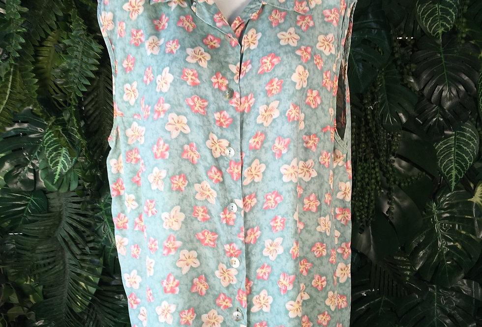 Sleeveless blossom blouse (size 48)