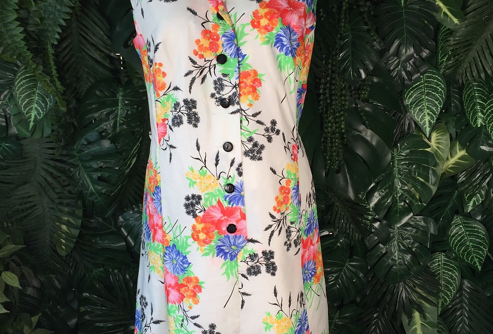 Lucie Linden sleeveless floral dress (size 18)