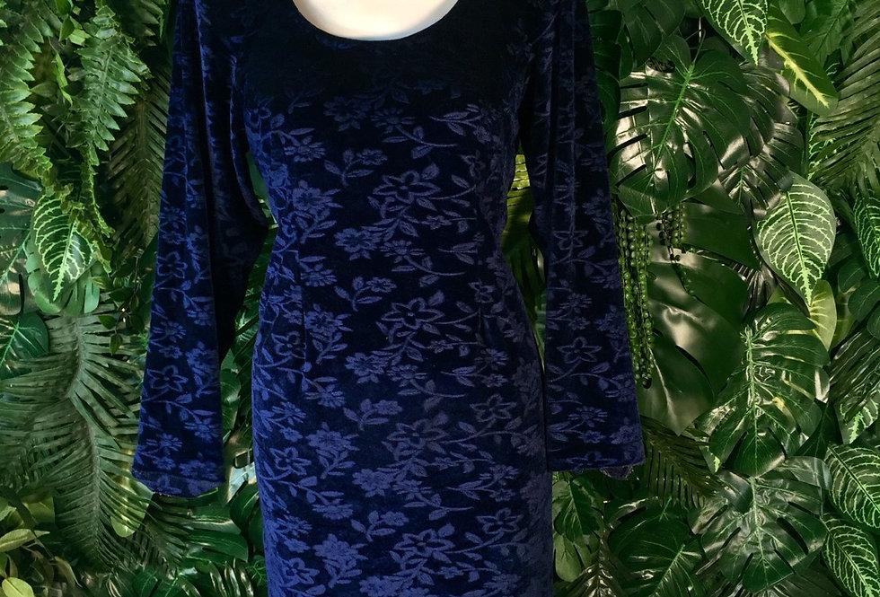 Floral pattern velvet dress (size 18)