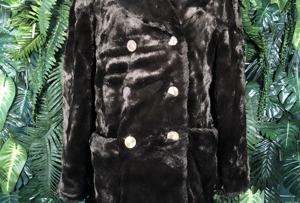 Antea dark brown faux fur