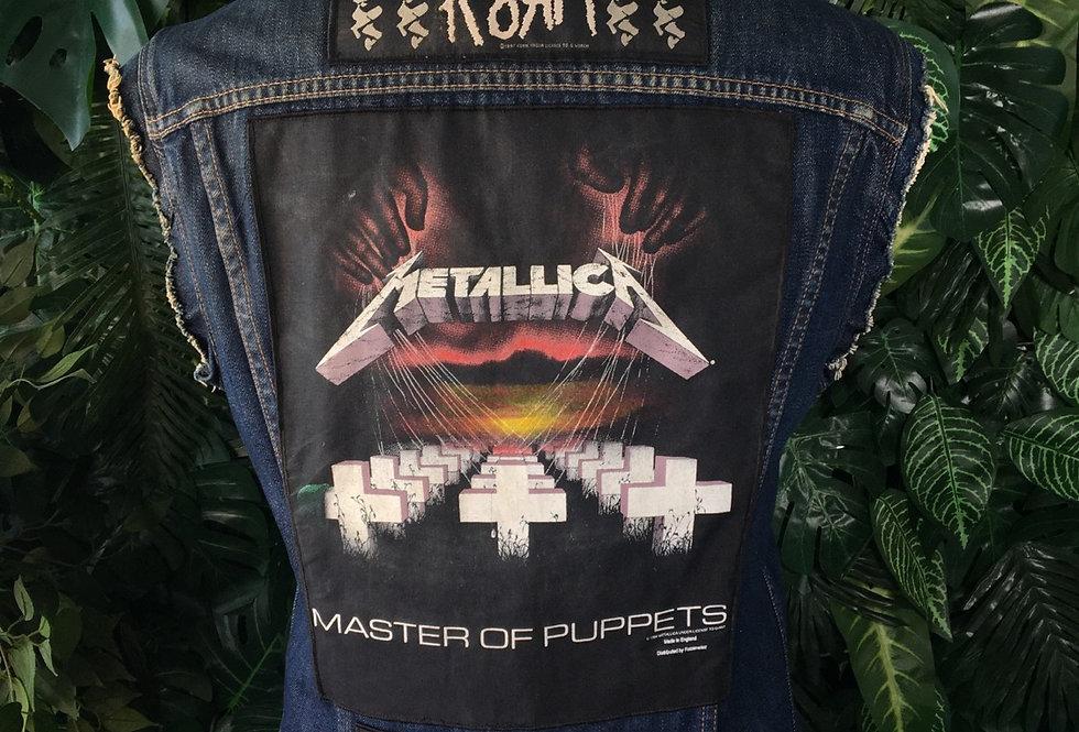 Custom Levi's heavy metal denim vest (L)