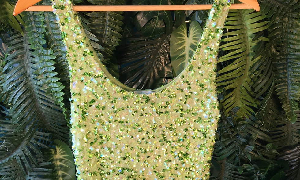 Green Sequin Tank (Size M)
