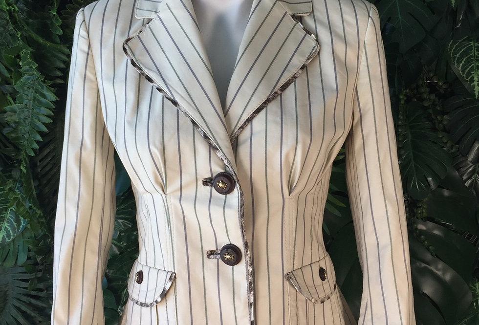 Original Roberto Cavalli pinstripe blazer with turtle buttons